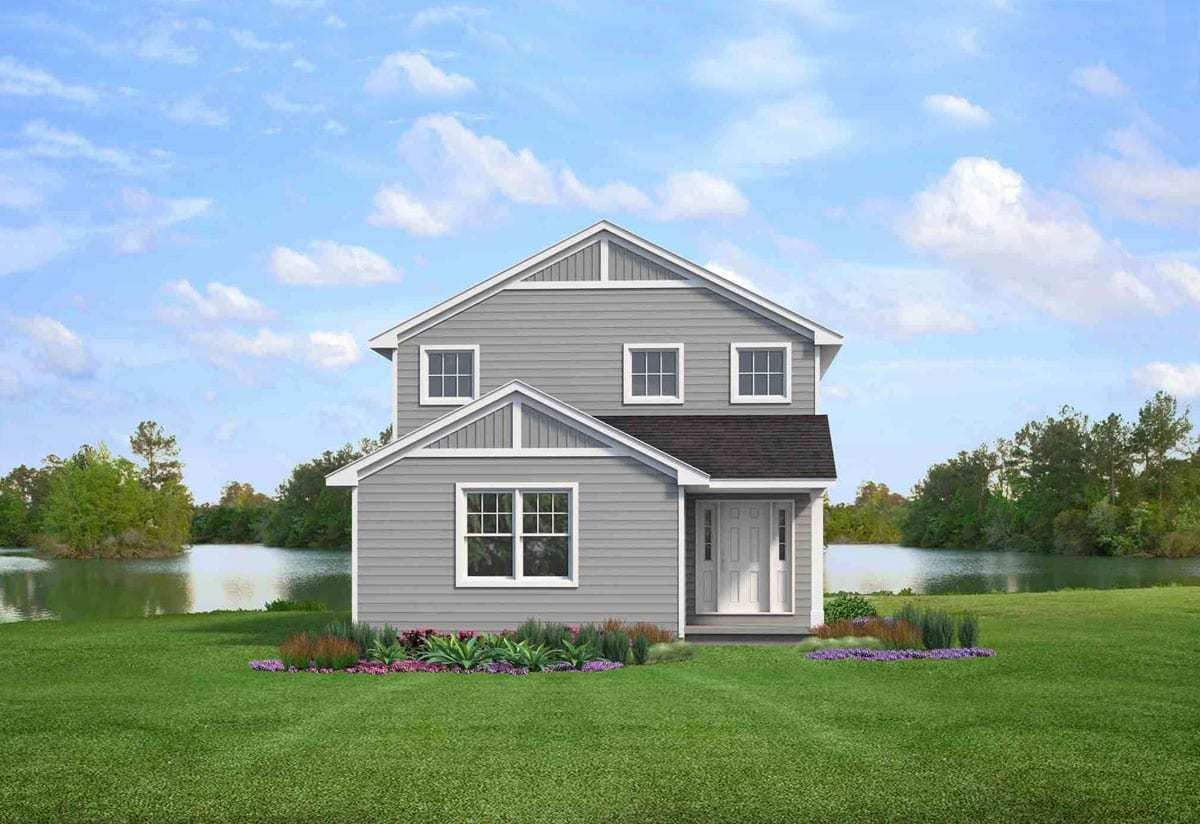 Exterior featured in the Lynden By Wayne Homes in Cleveland, OH