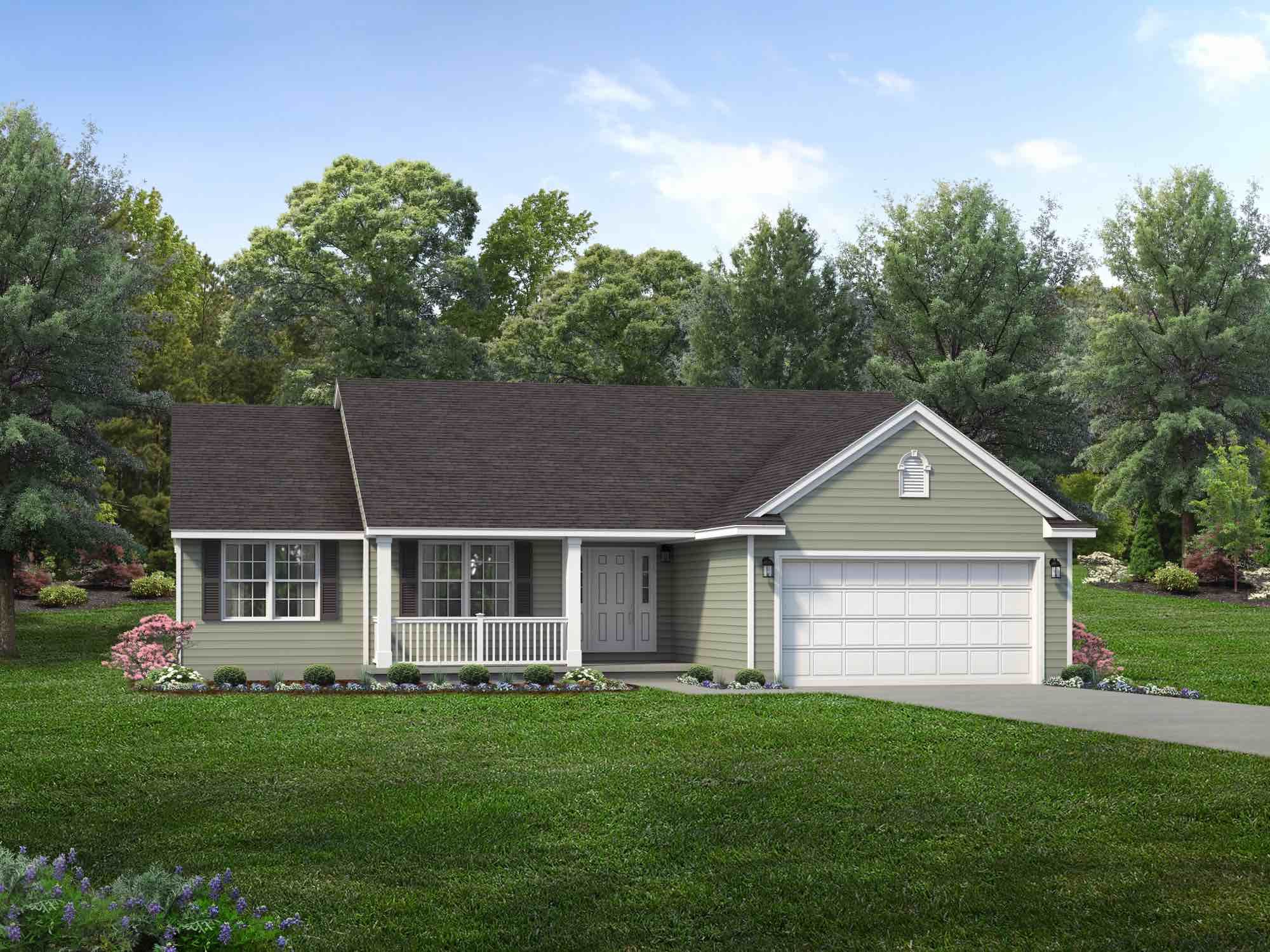 Exterior featured in the Providence II By Wayne Homes in Mansfield, OH