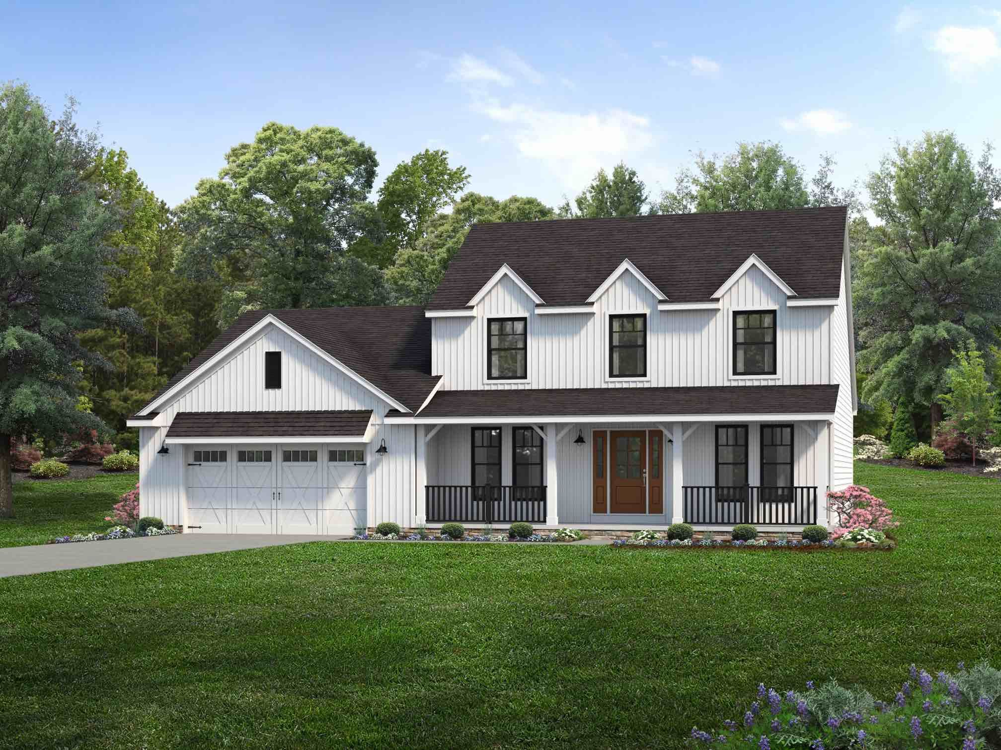 Exterior featured in the Cedar Hill By Wayne Homes in Pittsburgh, PA