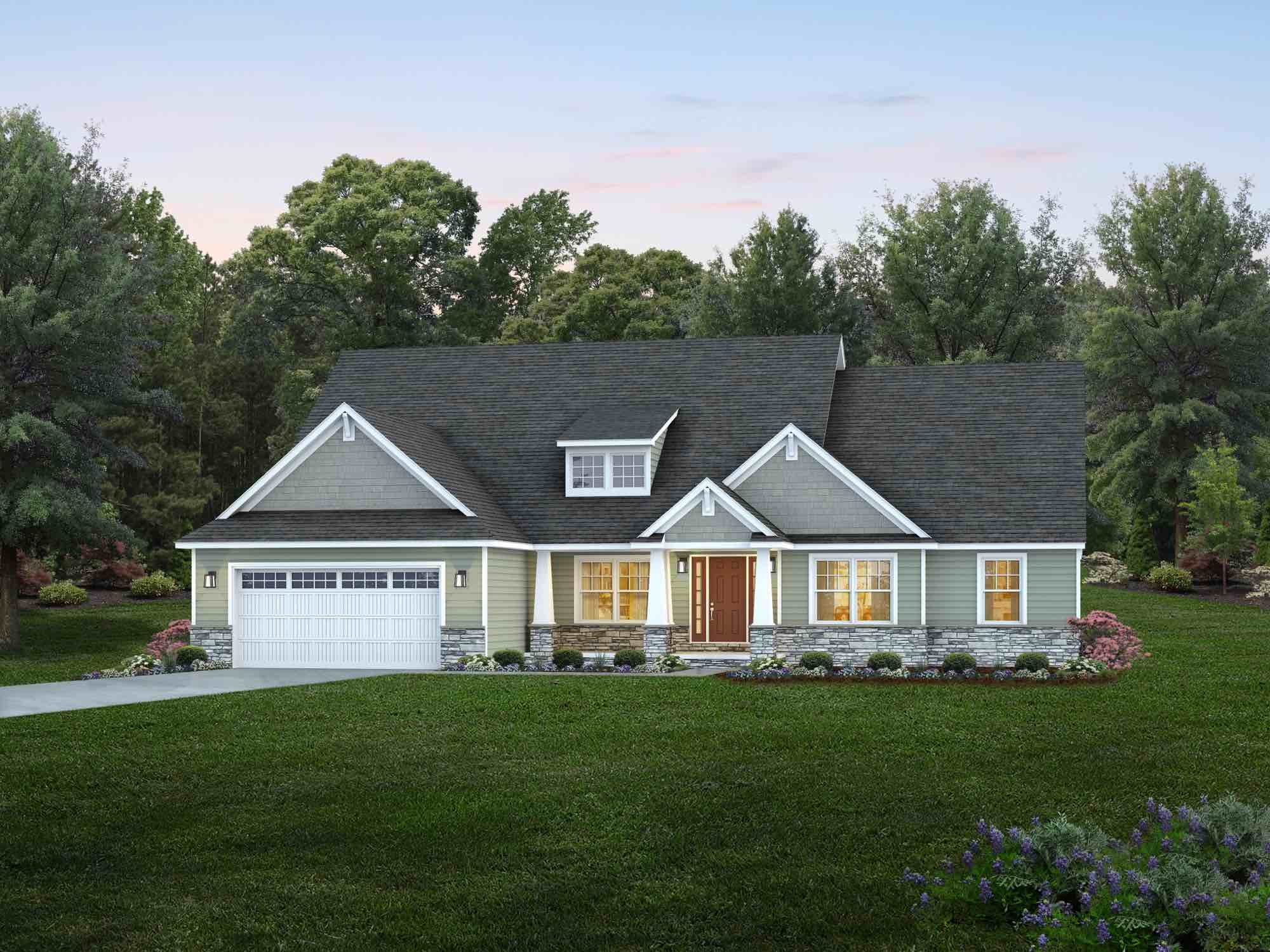 Exterior featured in the Montgomery By Wayne Homes in Mansfield, OH
