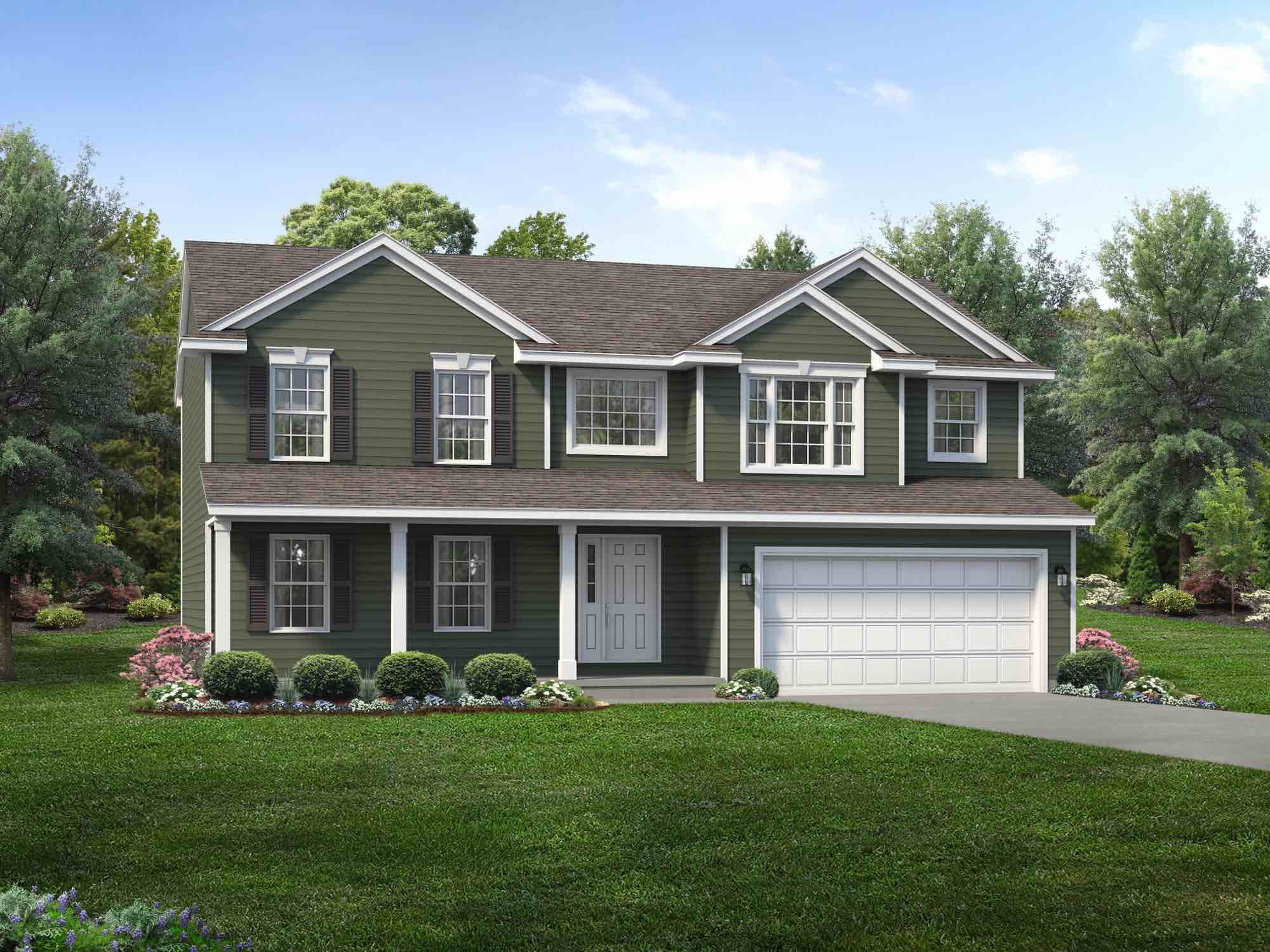 Exterior featured in the Jamestown By Wayne Homes in Mansfield, OH