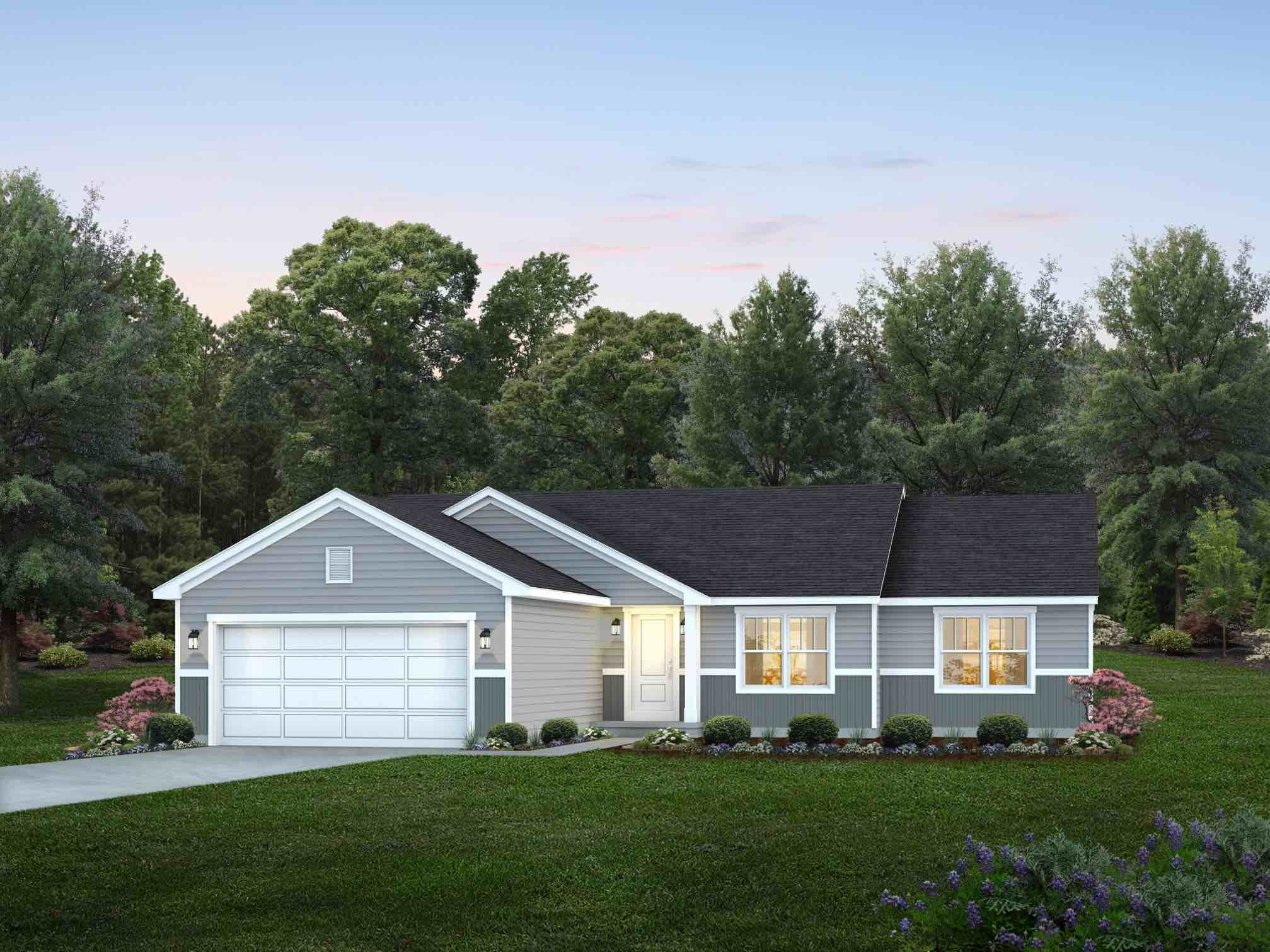 Exterior featured in the Camden By Wayne Homes in Mansfield, OH