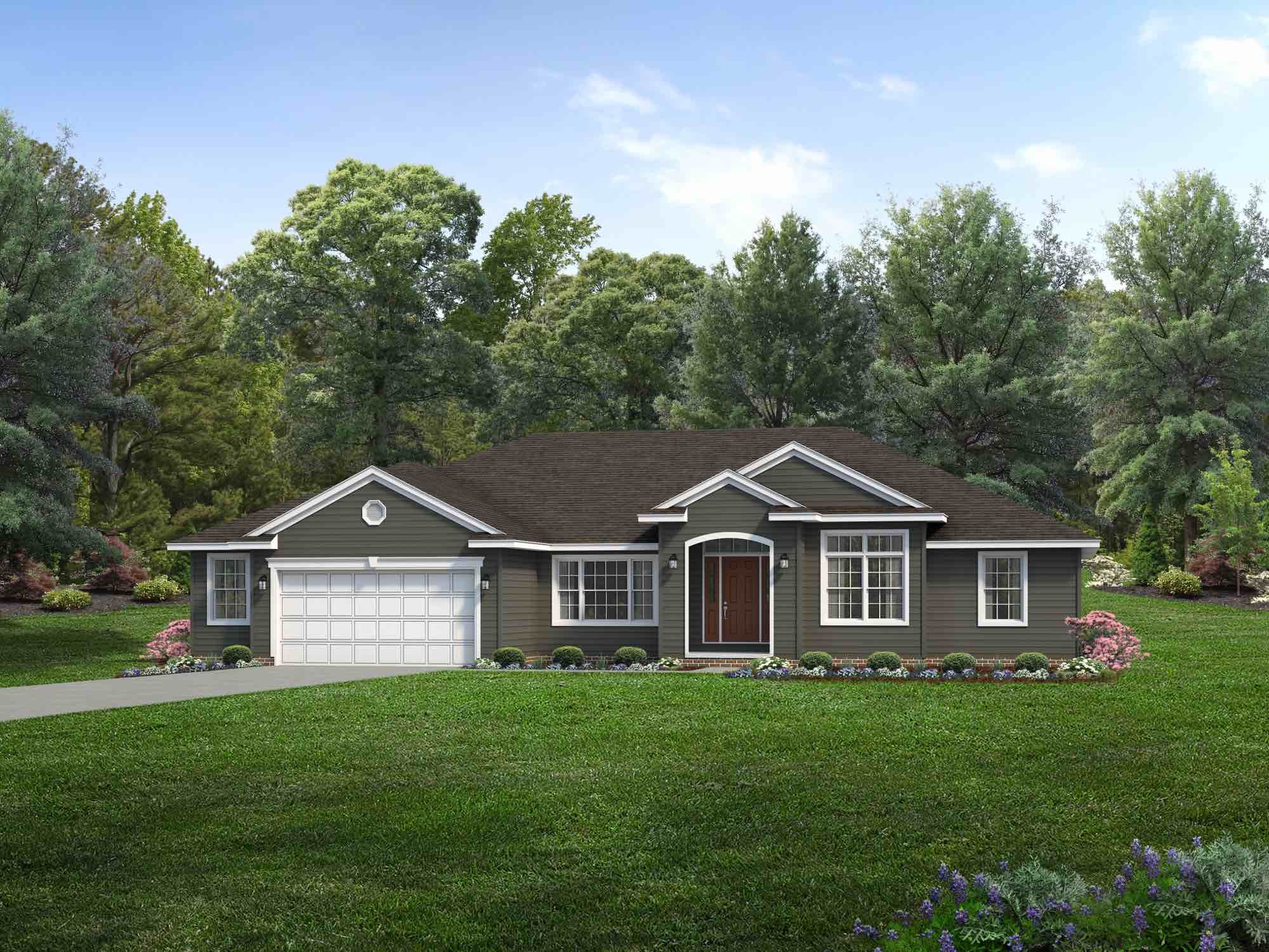 Exterior featured in the Alexandria By Wayne Homes in Toledo, OH