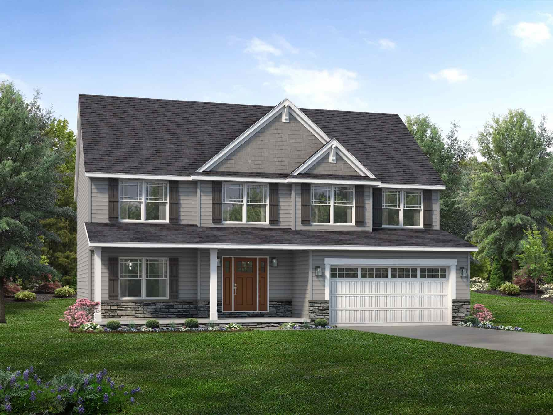 Exterior featured in the Auburn II By Wayne Homes in Columbus, OH