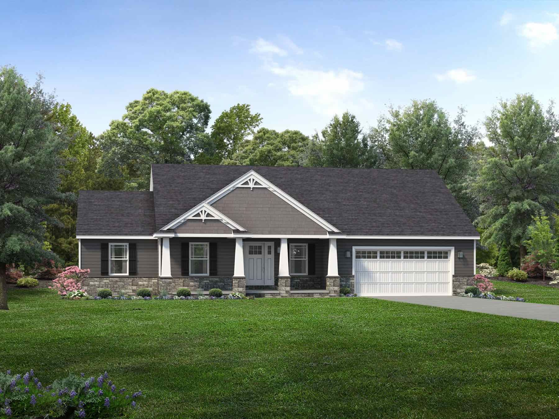 Exterior featured in the Richmond II By Wayne Homes in Toledo, OH