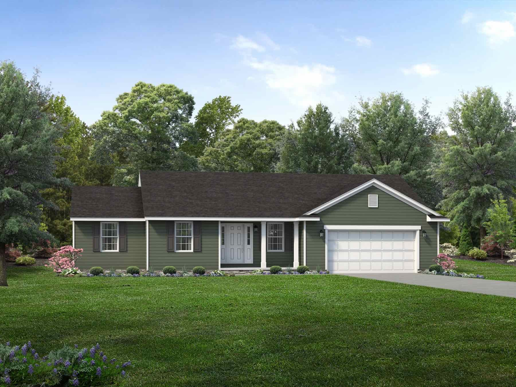 Exterior featured in the Richmond II By Wayne Homes in Akron, OH