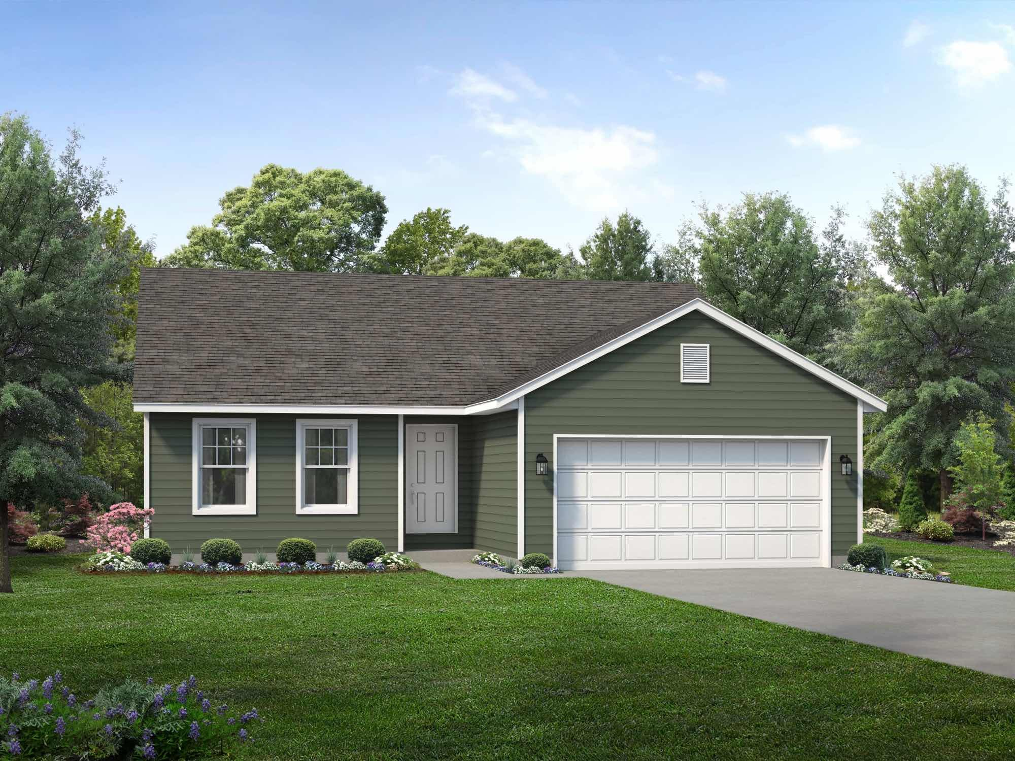 Exterior featured in the Bristol II By Wayne Homes in Toledo, OH
