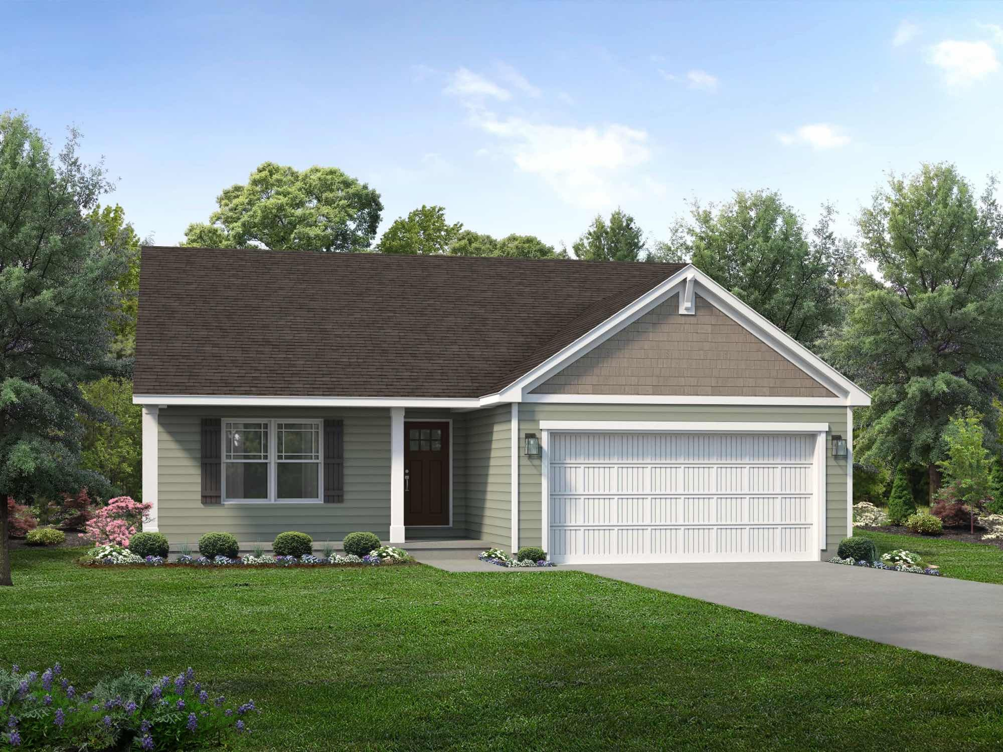 Exterior featured in the Bristol II By Wayne Homes in Cleveland, OH