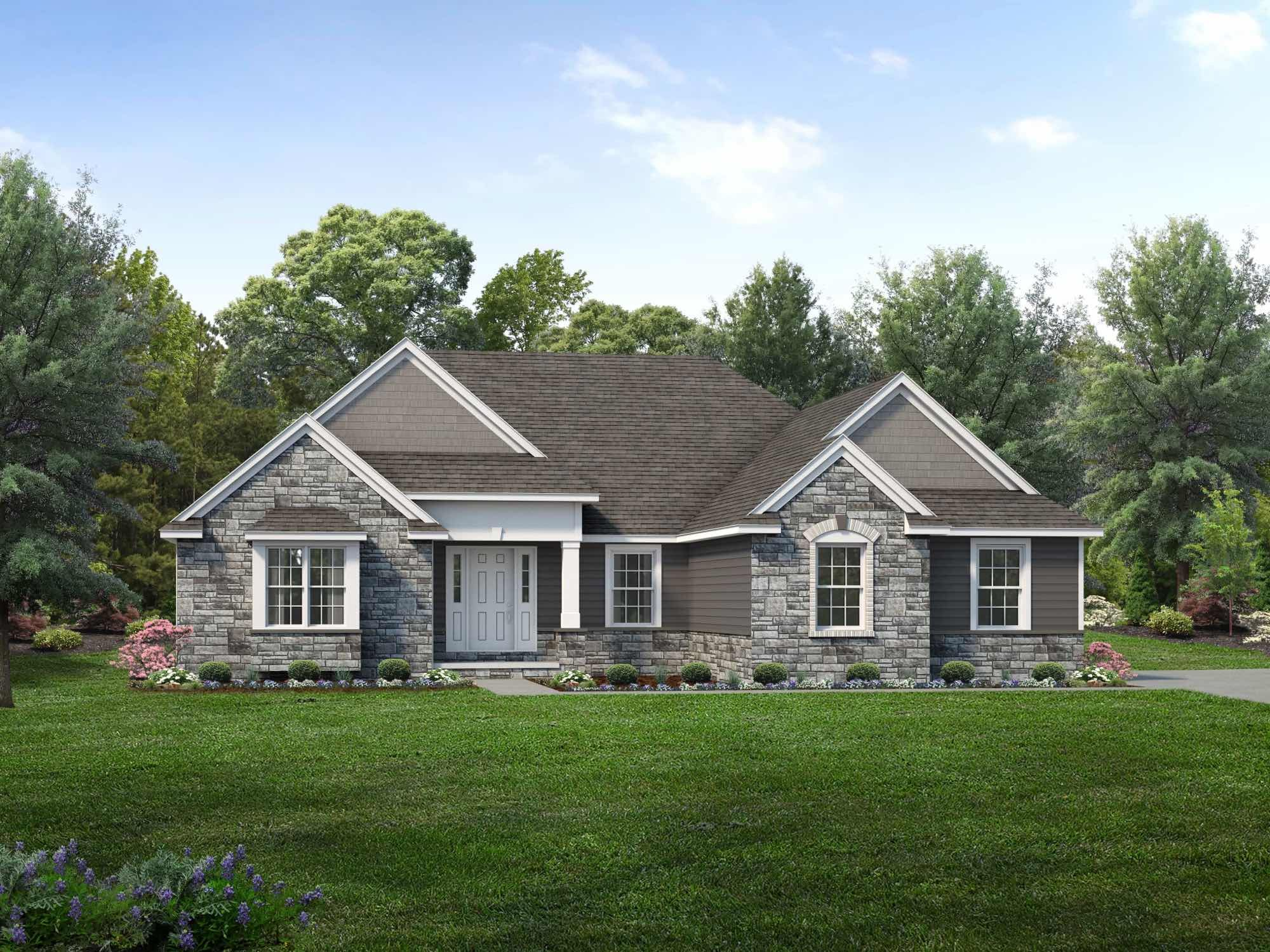 Exterior featured in the Franklin By Wayne Homes in Pittsburgh, PA