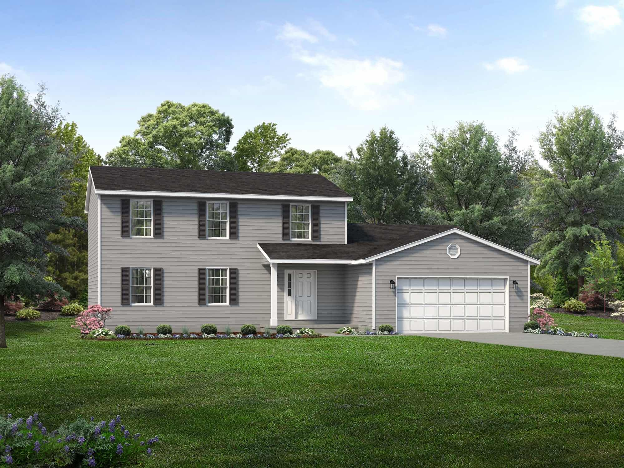 Exterior featured in the Cumberland By Wayne Homes in Akron, OH
