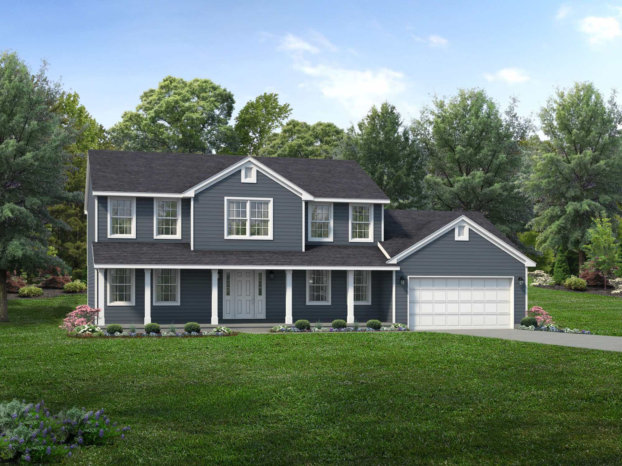 Exterior featured in the Washington II By Wayne Homes in Columbus, OH