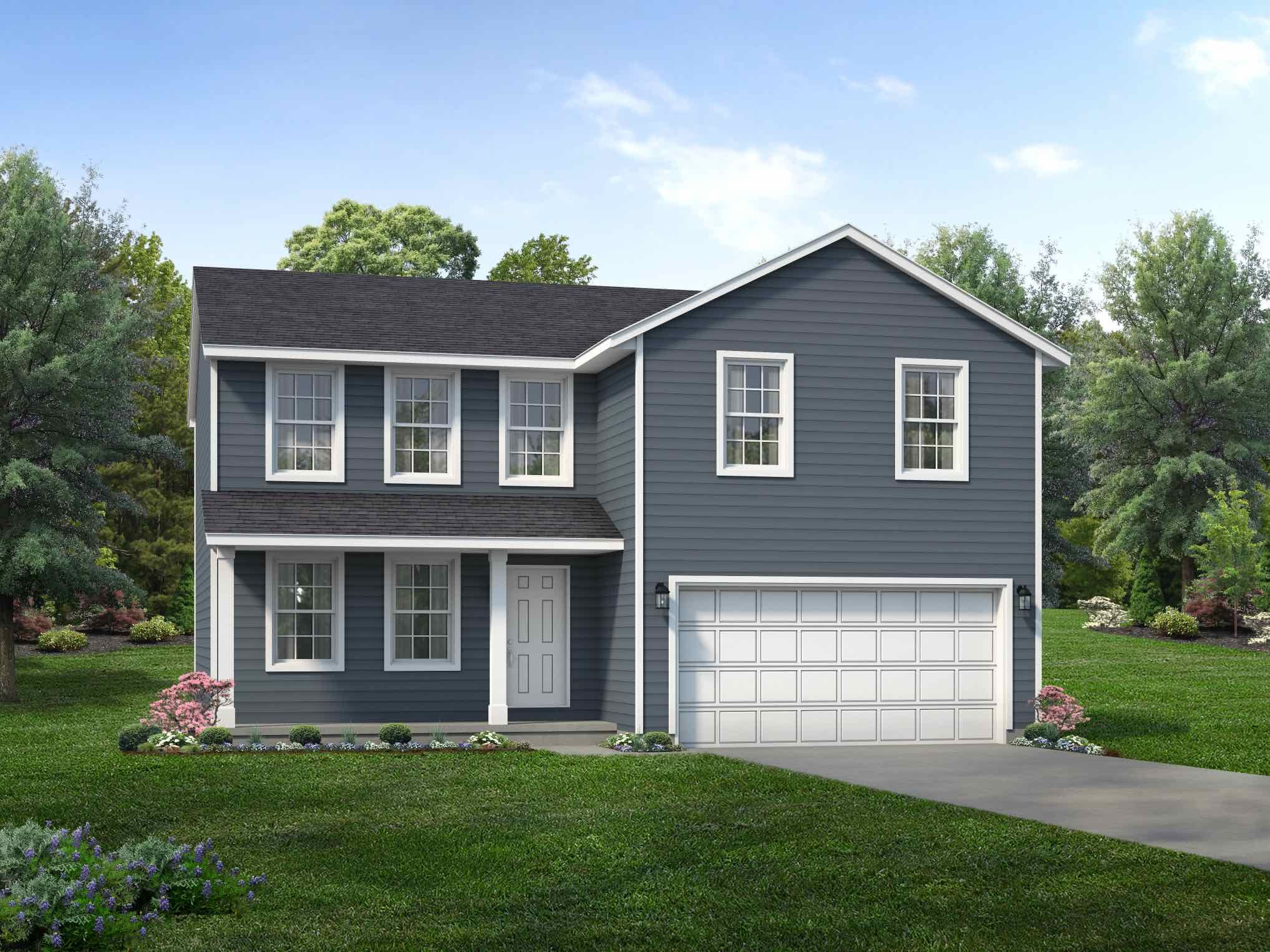Exterior featured in the Hampton II By Wayne Homes in Pittsburgh, PA