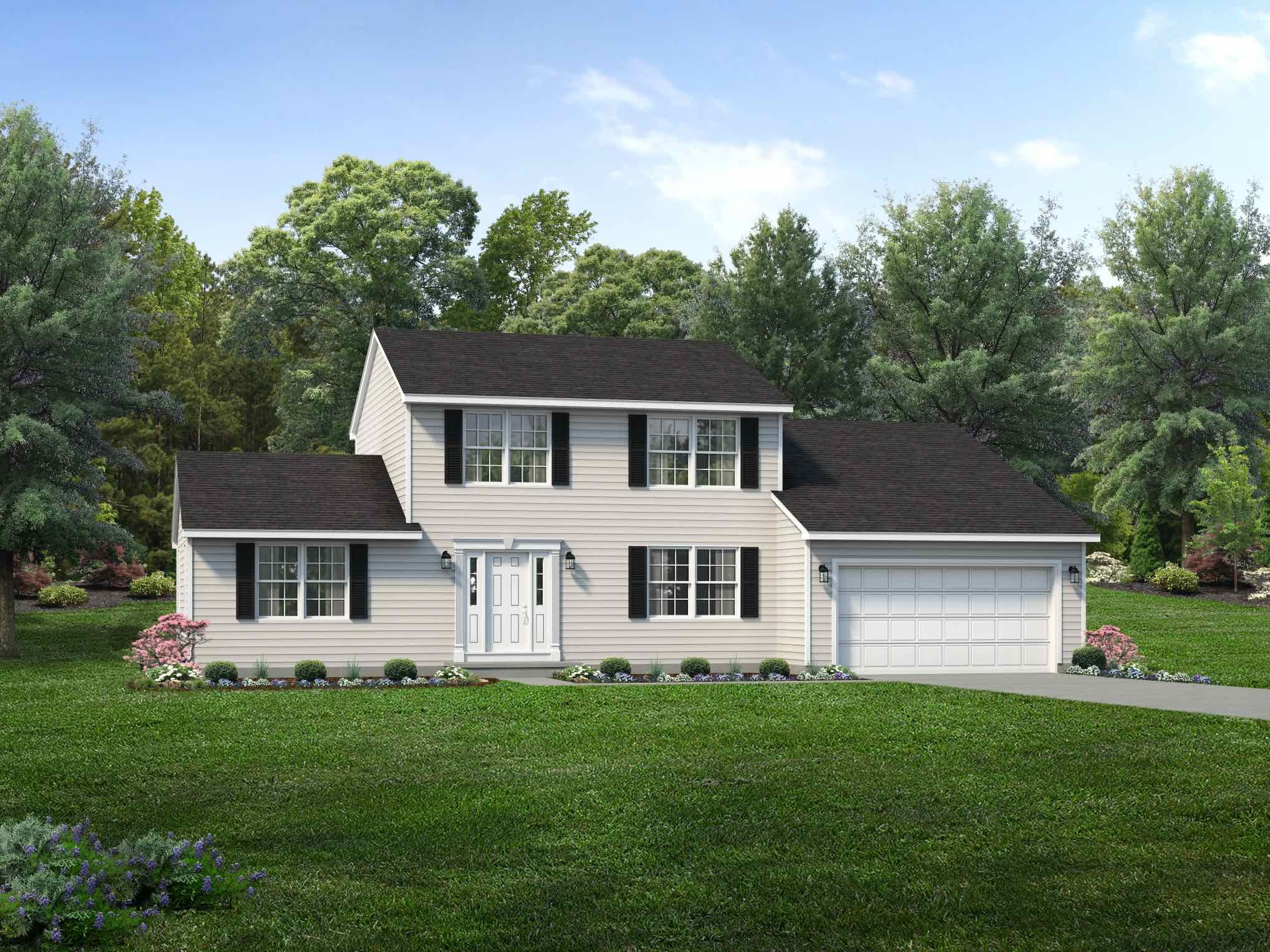 Exterior featured in the Brentwood By Wayne Homes in Mansfield, OH