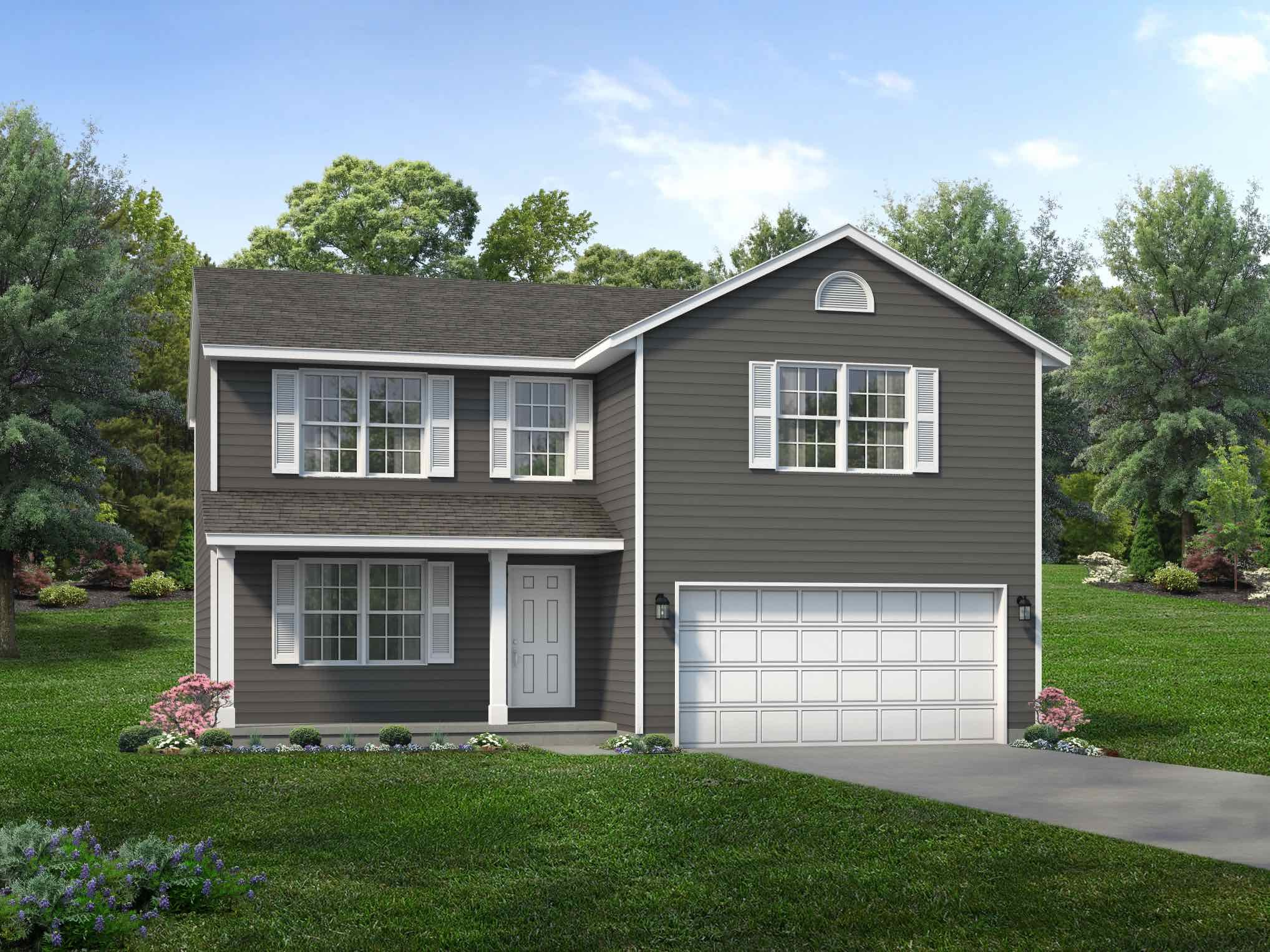 Exterior featured in the Hampton By Wayne Homes in Mansfield, OH