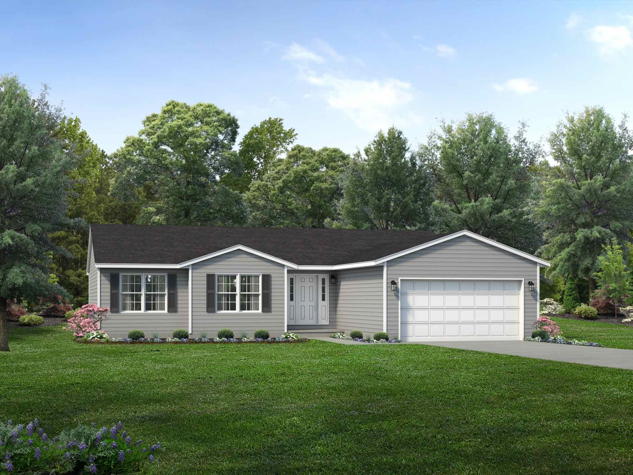 Exterior featured in the Gettysburg By Wayne Homes in Mansfield, OH