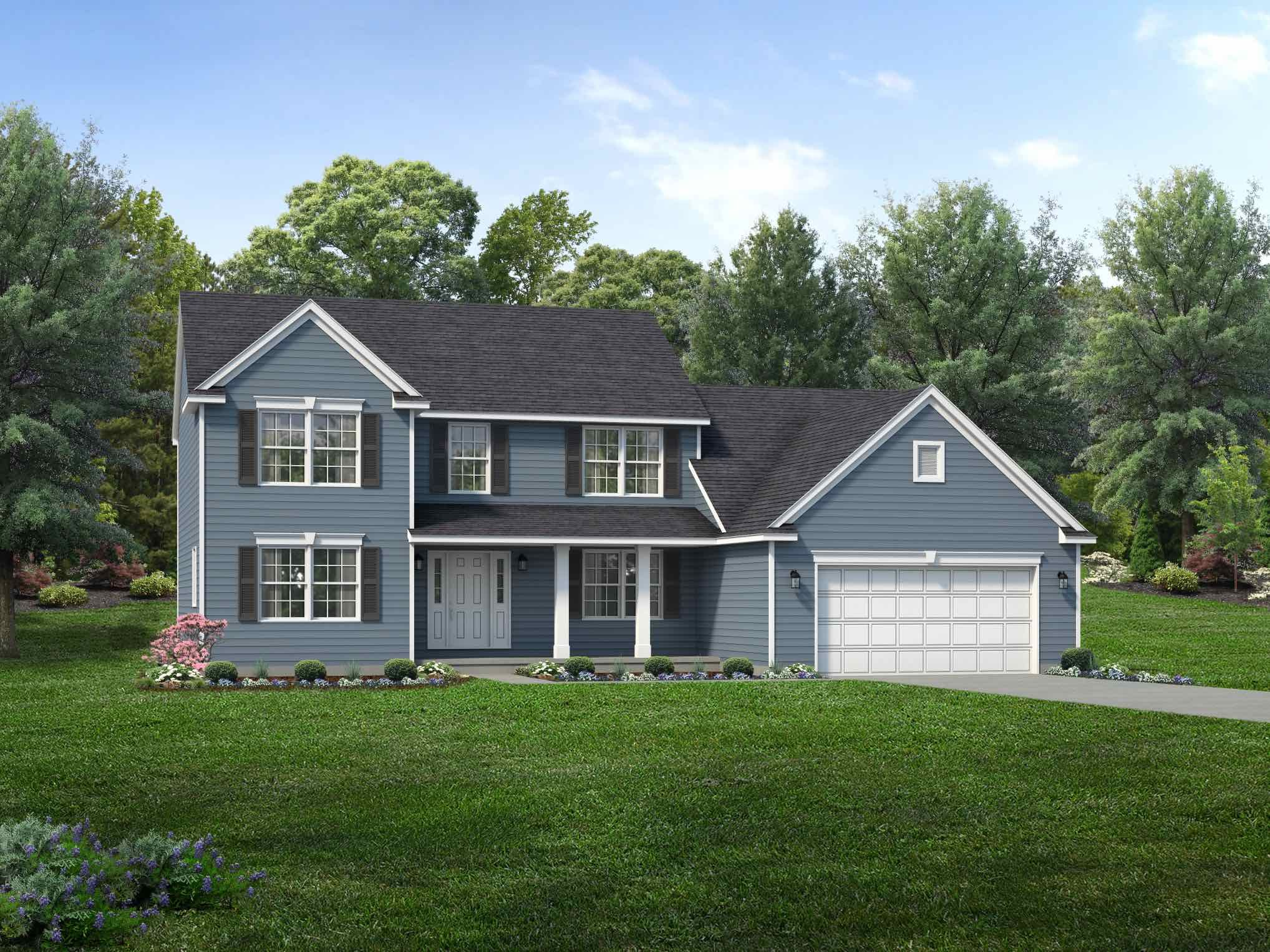Exterior featured in the Annapolis By Wayne Homes in Akron, OH
