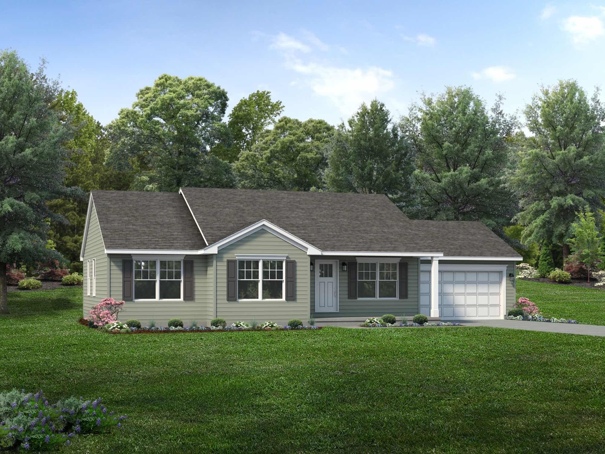 Exterior featured in the Albany By Wayne Homes in Toledo, OH