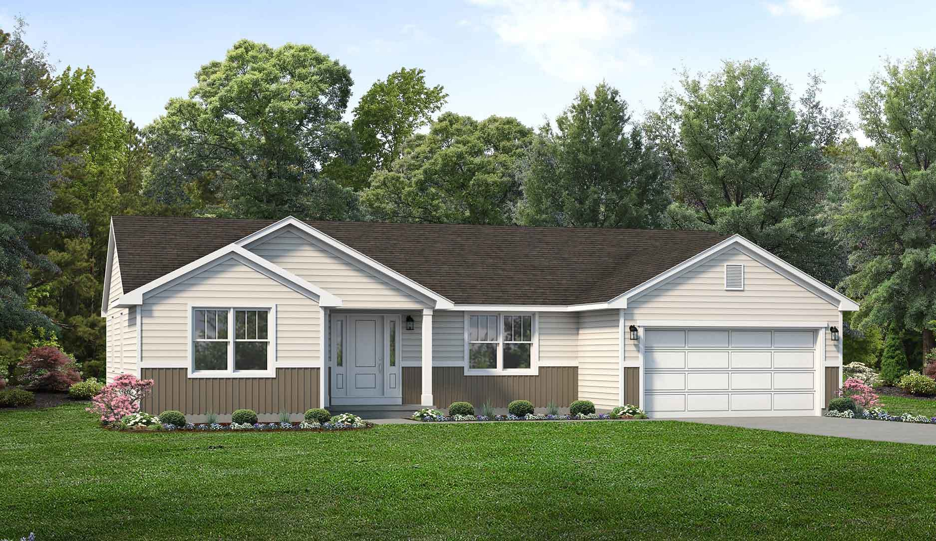 Exterior featured in the Dorchester II By Wayne Homes in Akron, OH