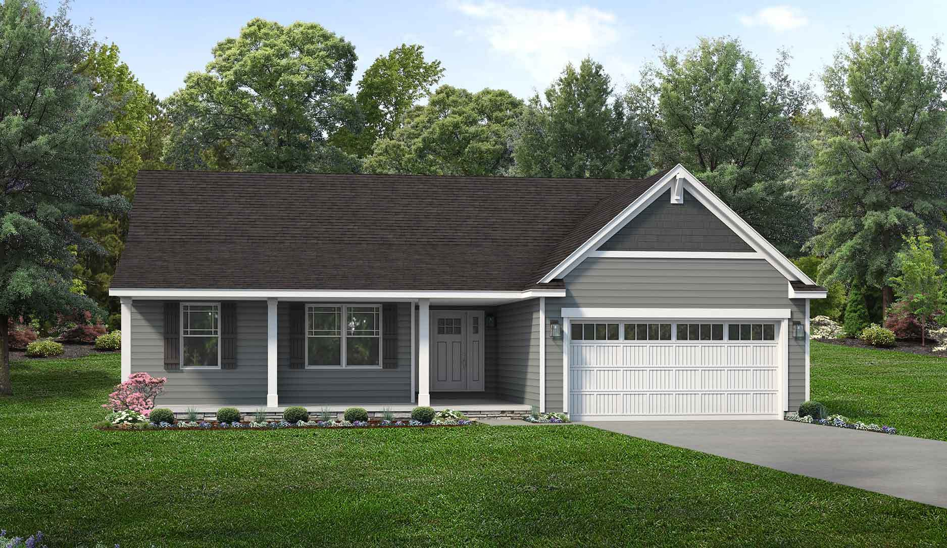 Exterior featured in the Brookline II By Wayne Homes in Mansfield, OH