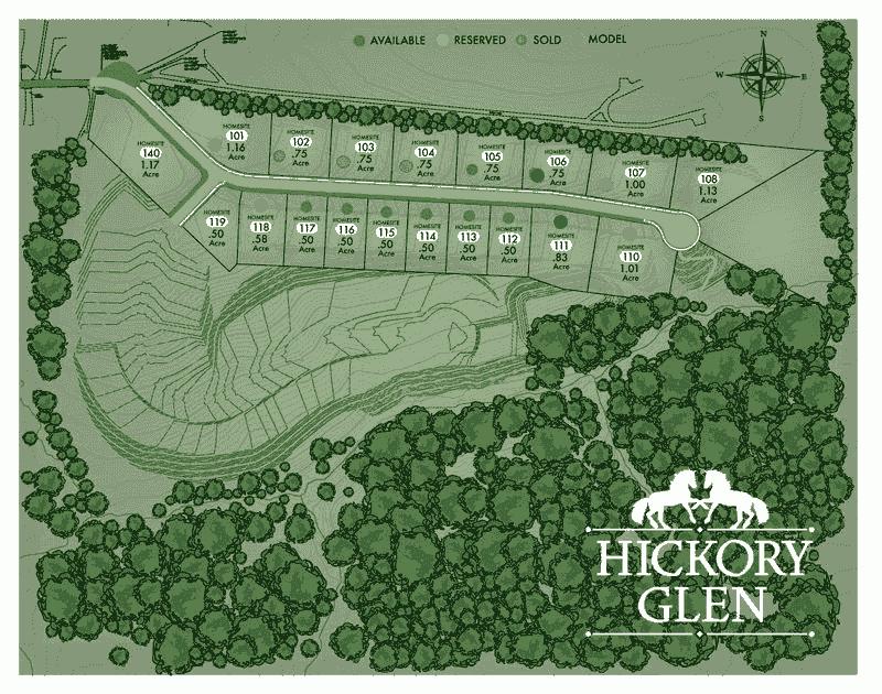 Hickory Glen Map