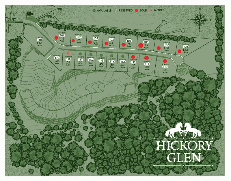 Hickory Glen Lot Map