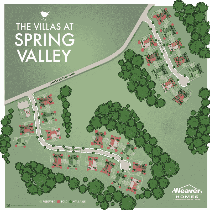 Spring Valley Lot Map