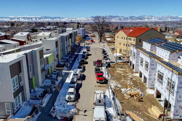 Aria Denver Community:An aerial photo of our growing community