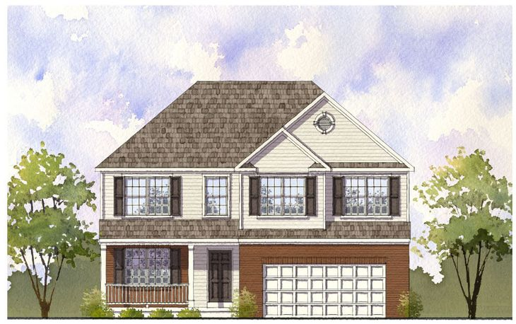 Elevation 'B' with optional brick front