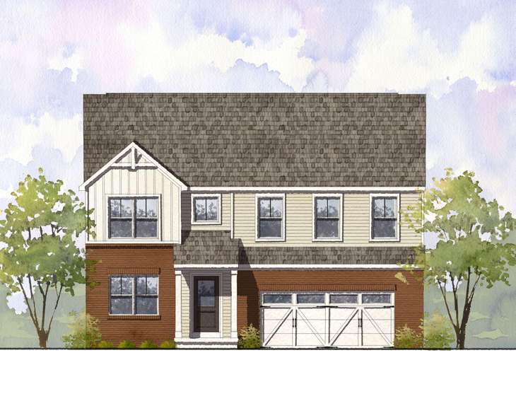 Elevation 'D' with optional brick:West Haven