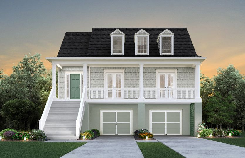 Exterior featured in the Faulkner By John Wieland Homes in Charleston, SC
