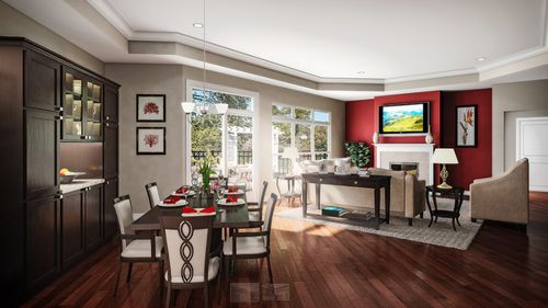 Greatroom-and-Dining-in-Promenade-at-Cottages at Governor's Landing-in-Knoxville