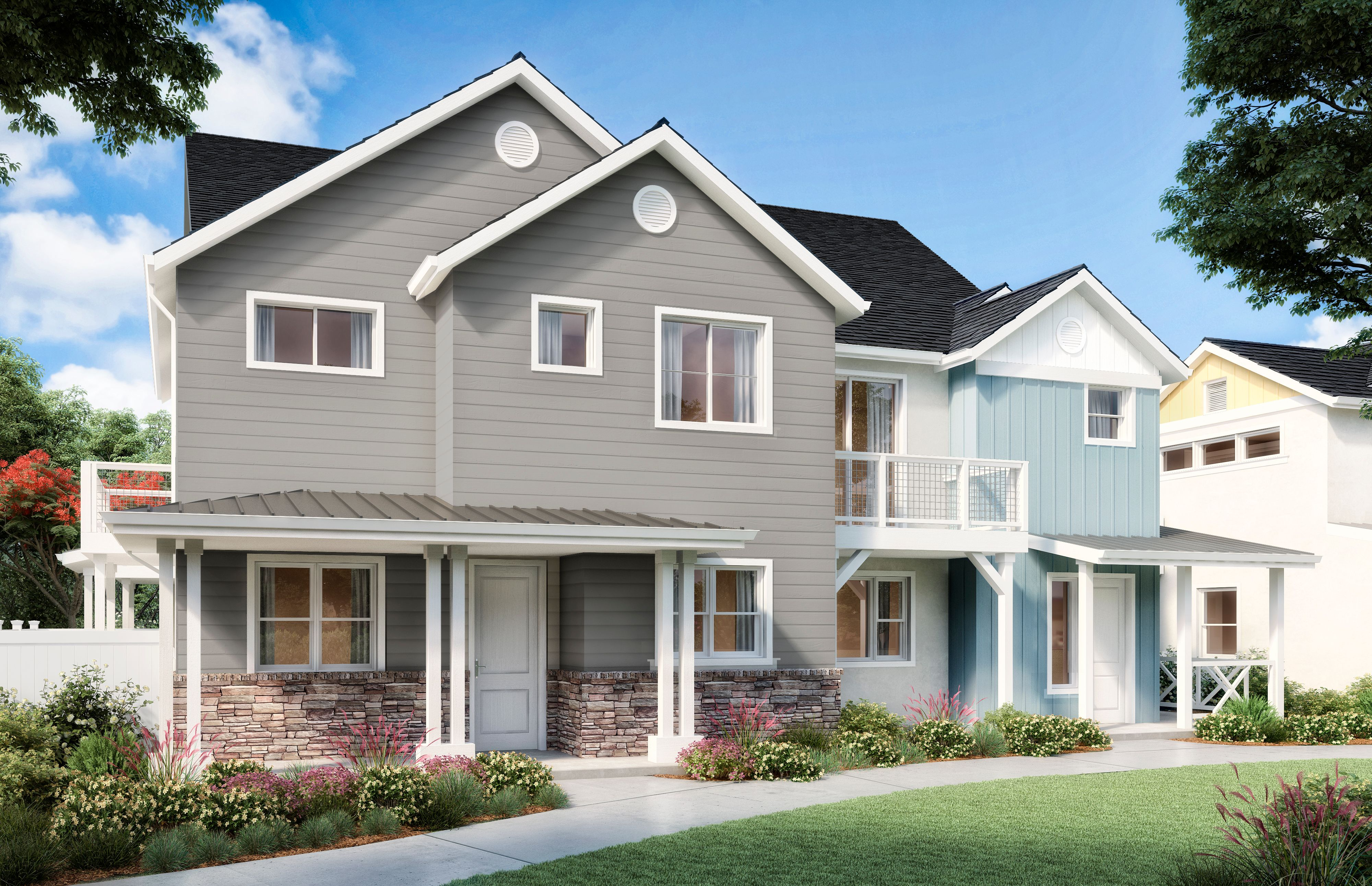 Exterior featured in the Oak Plan Two By Williams Homes in San Luis Obispo, CA