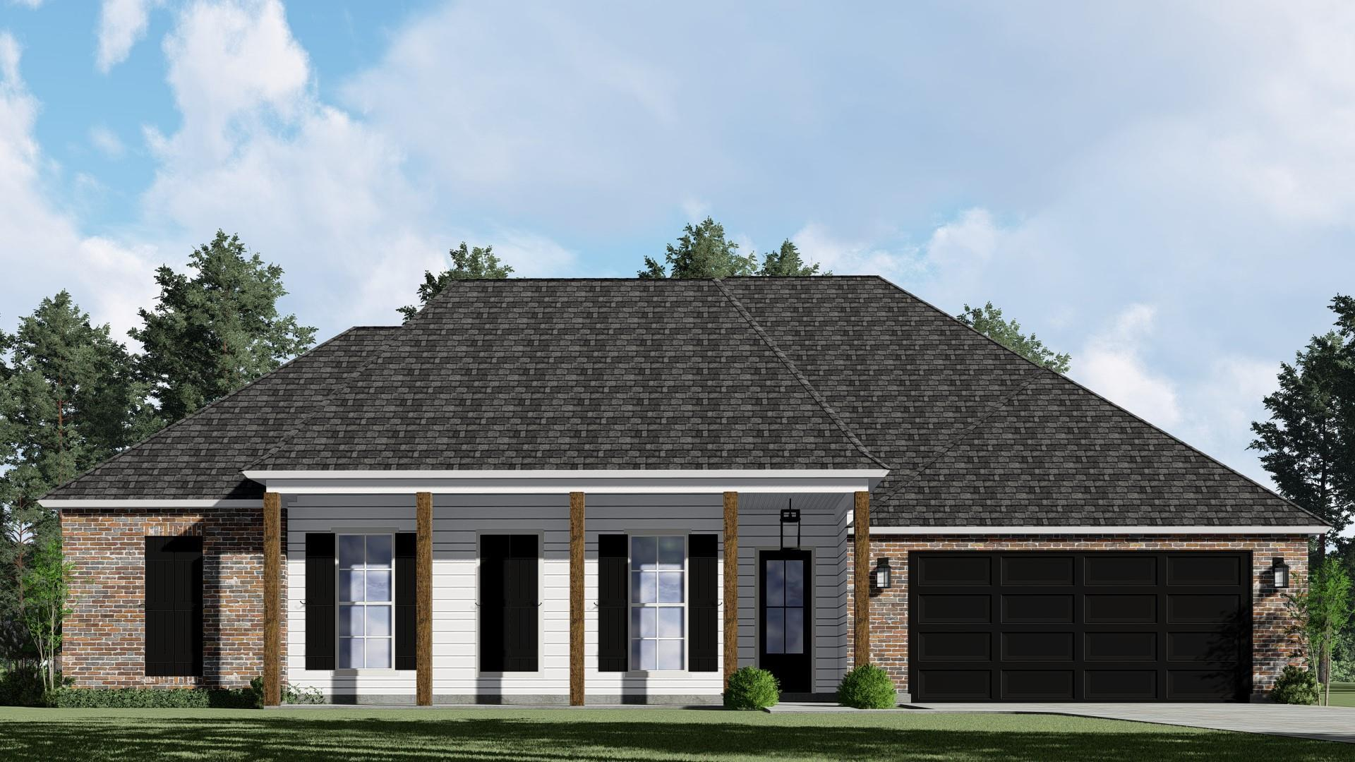 Exterior featured in The Aubree III By Willie & Willie  in Baton Rouge, LA