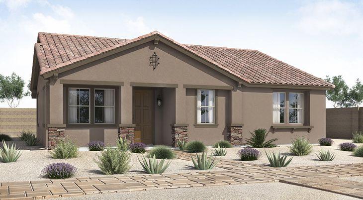 B Elevation:Ranch Hacienda
