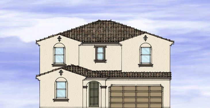 Elevation A:Spanish Colonial