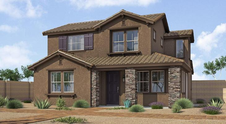 B Elevation:Ranch Hacienda