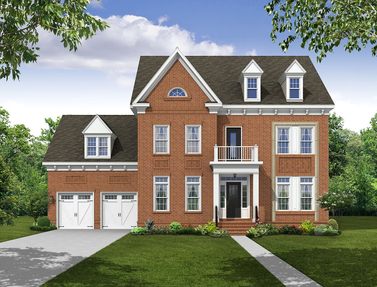 Exterior featured in the Brightwood Greenleigh By Williamsburg Homes LLC in Baltimore, MD