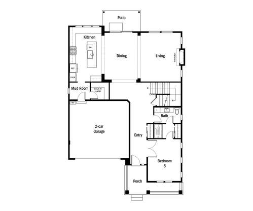 Eastgrove Main Level Floorplan