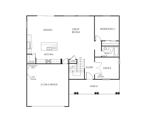 Braeburn First Floor Floorplan