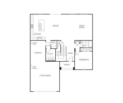 Braeburn First Floor Floorplan