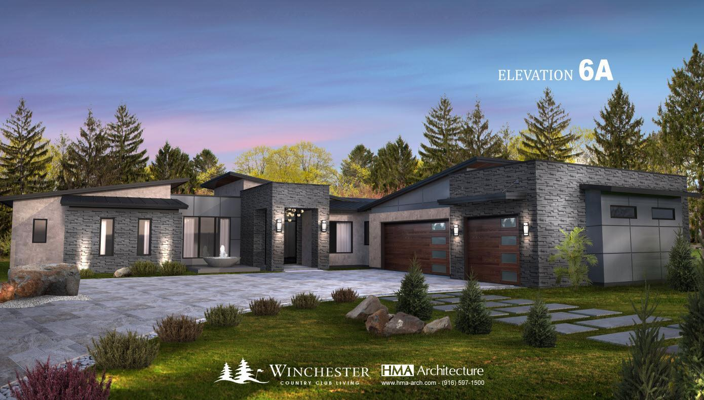 Exterior featured in the Plan 6 By Winchester County Club in Sacramento, CA