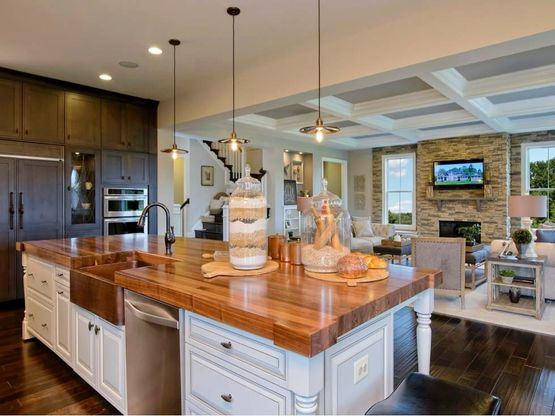 Open floor plans with space to entertain