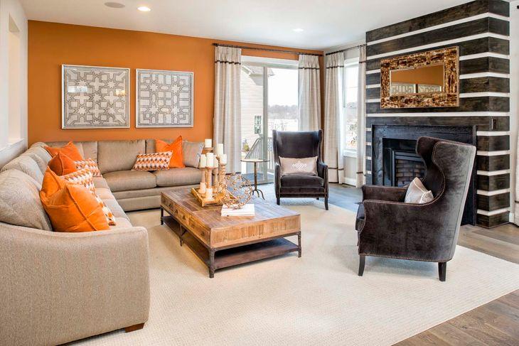 Winchester Homes - Barrington:Barrington Model Home   Living Room