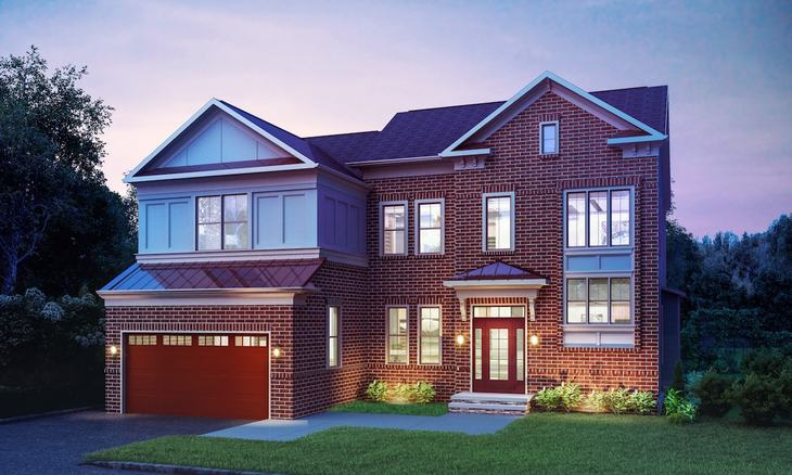 Winchester Homes - Alexander - 2921:The Alexander at West Grove - Elevation 51AX01