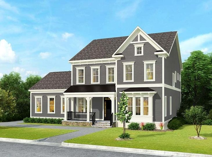 Winchester Homes - uncategorized - 1710:The Hathaway: Elevation 01