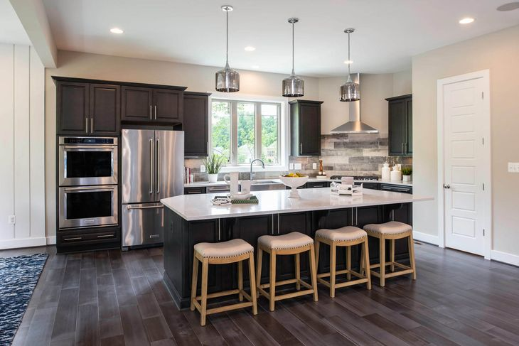 Winchester Homes - uncategorized - 3112:A large kitchen island makes mealtime easier