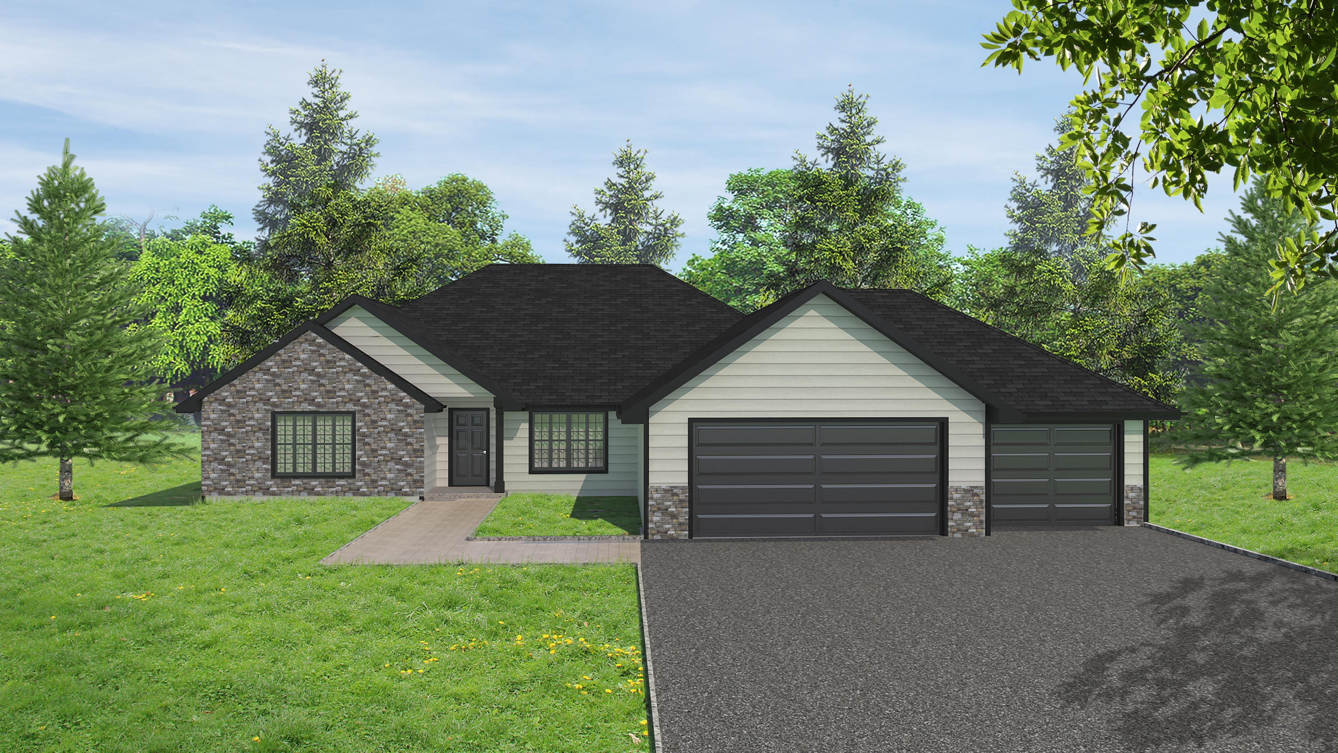 Exterior featured in the McKinley Ranch  By Windsong Custom Homes in Billings, ND