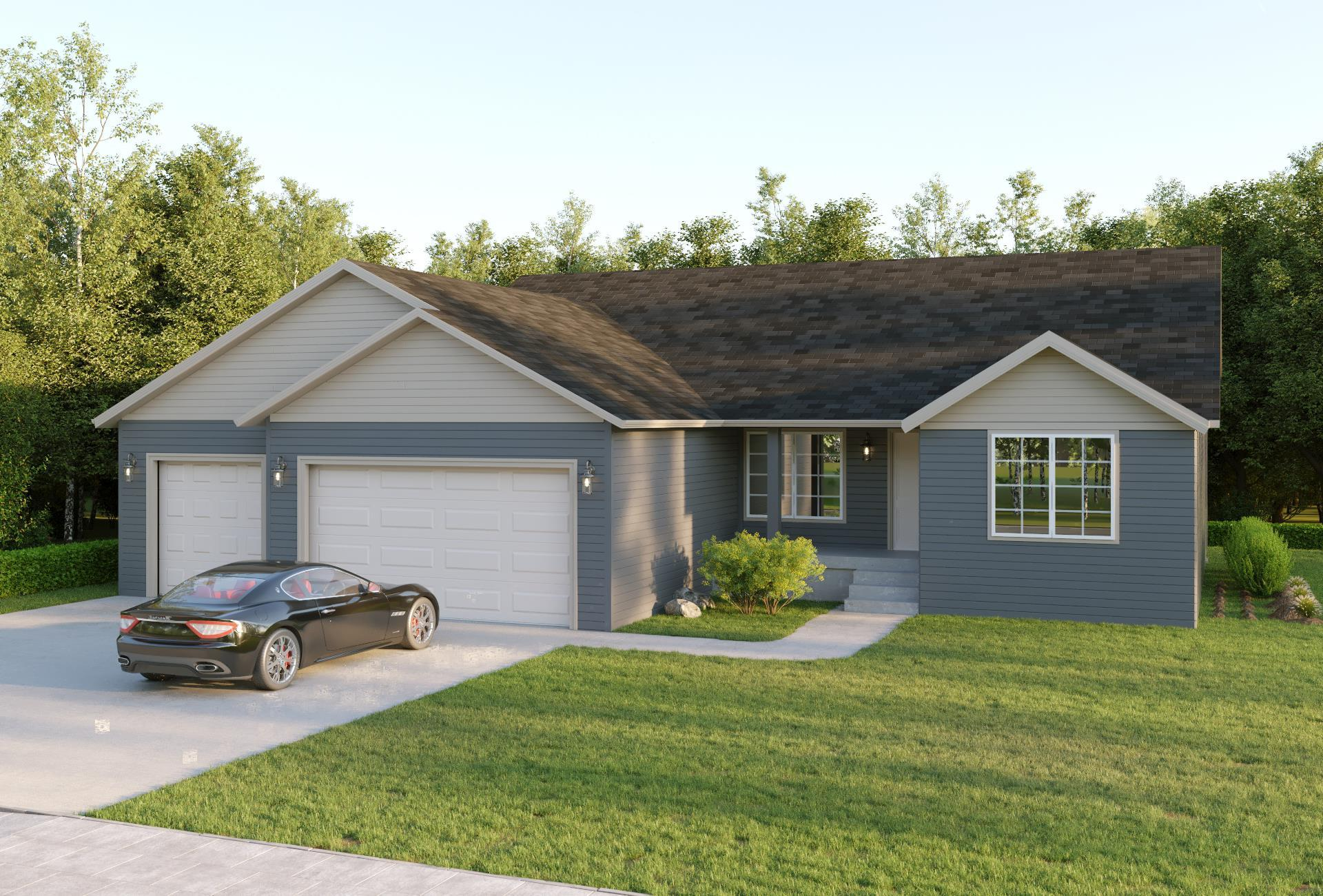 Exterior featured in the Monroe Ranch By Windsong Custom Homes in Billings, ND