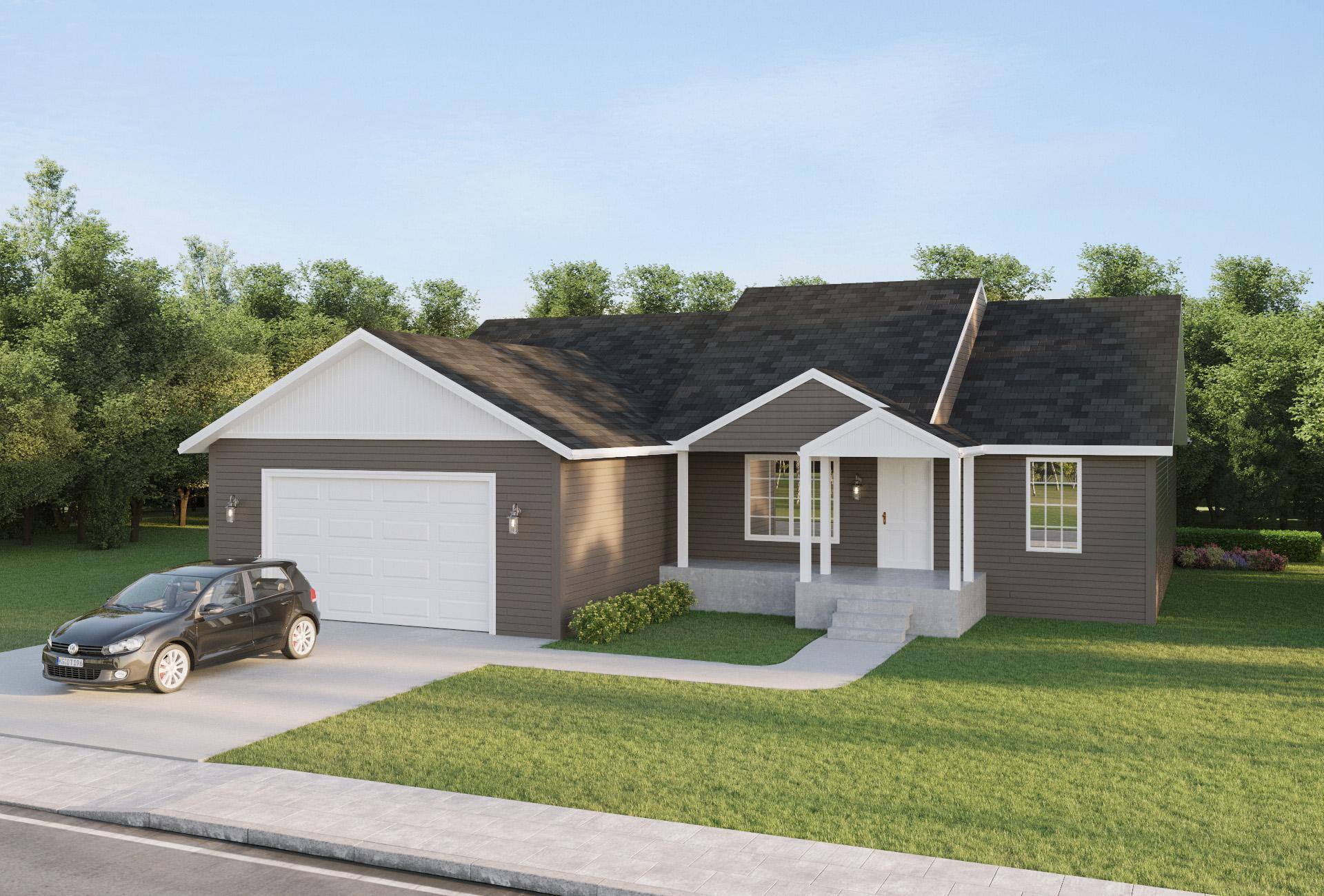Exterior featured in the Lyons By Windsong Custom Homes in Billings, ND