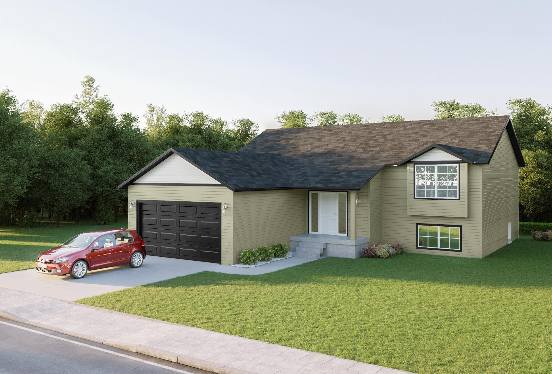 Exterior featured in the Jonathan Split Foyer By Windsong Custom Homes in Billings, ND